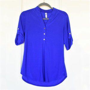 Blue Women's Blouse | Per Seption Concept | Small